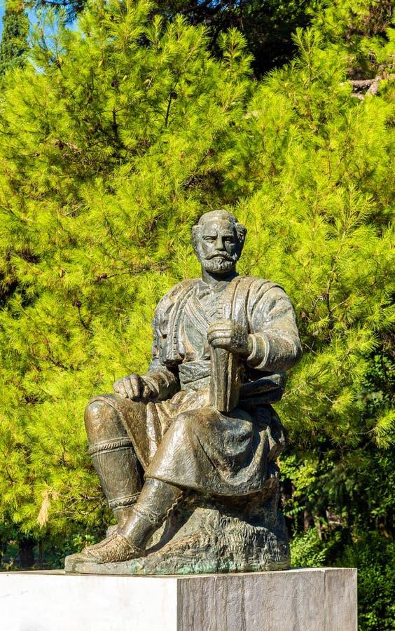 Statue de Petar II Petrovic-Njegos à Podgorica photographie stock