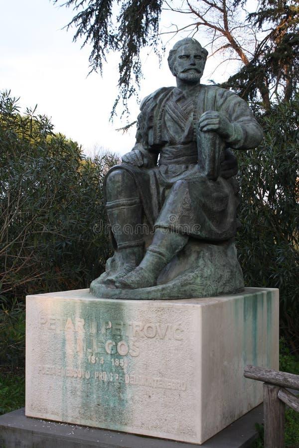 Statue de Petar II Petrovic-Njegos en villa Borghese, Rome photo stock