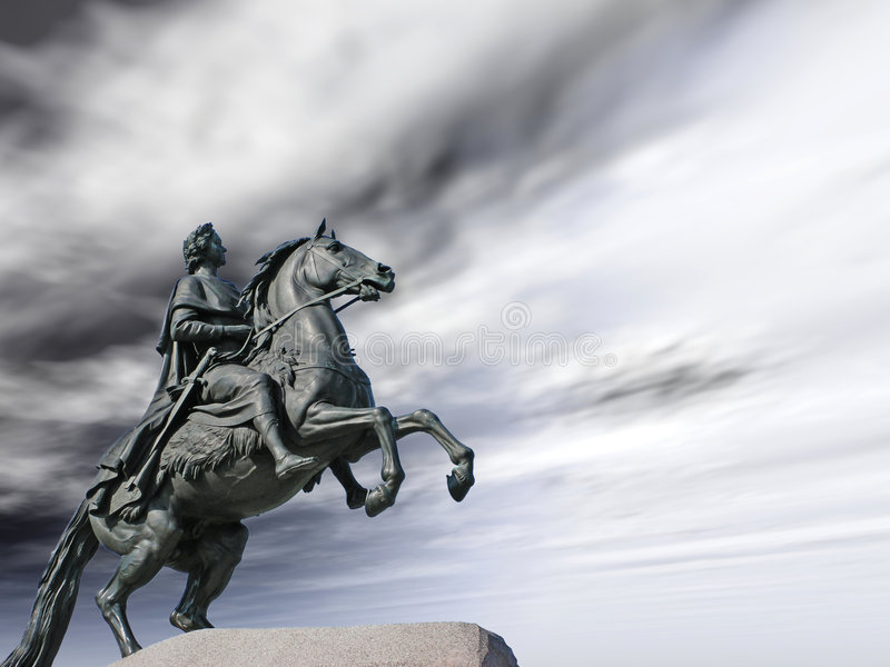 Statue de Peter image libre de droits