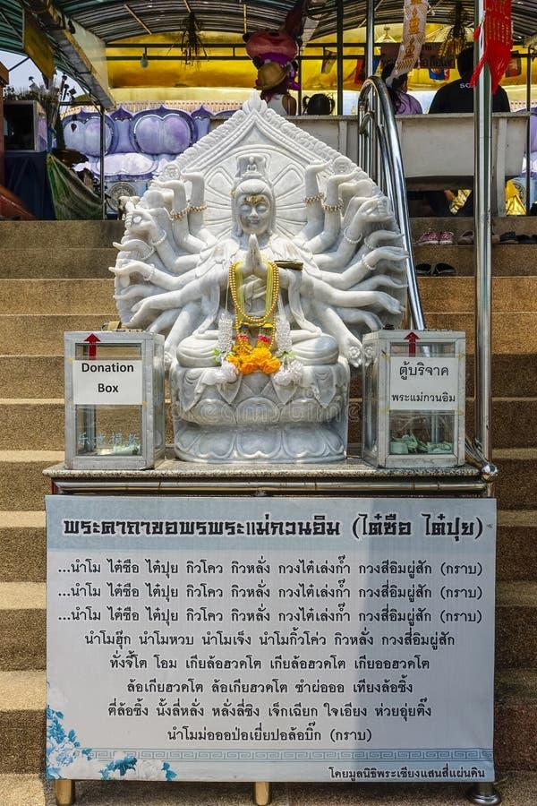 Statue de pierre de Goddes, concession Rurak, Thaïlande image stock