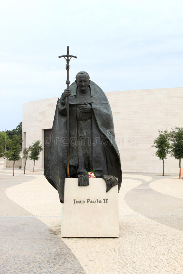Statue de Pope John Paul Ii en Fatima, Portugal photographie stock libre de droits