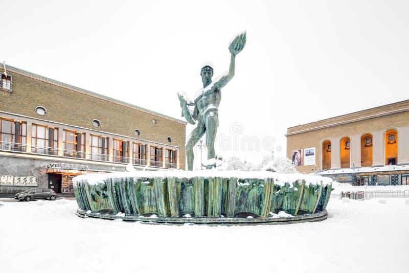 Statue de Poseidon images libres de droits