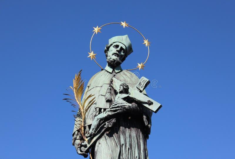 Statue de Prague de ½ de janv. Nepomuckà photographie stock libre de droits