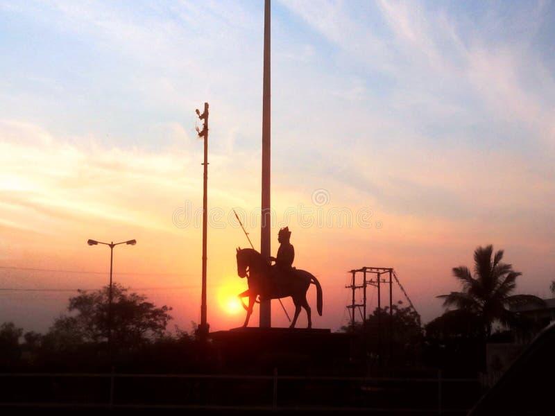 Statue de pratap de Maharana photographie stock