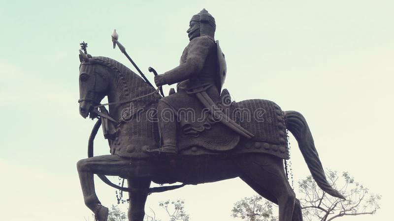 Statue de pratap de Maharana photographie stock libre de droits