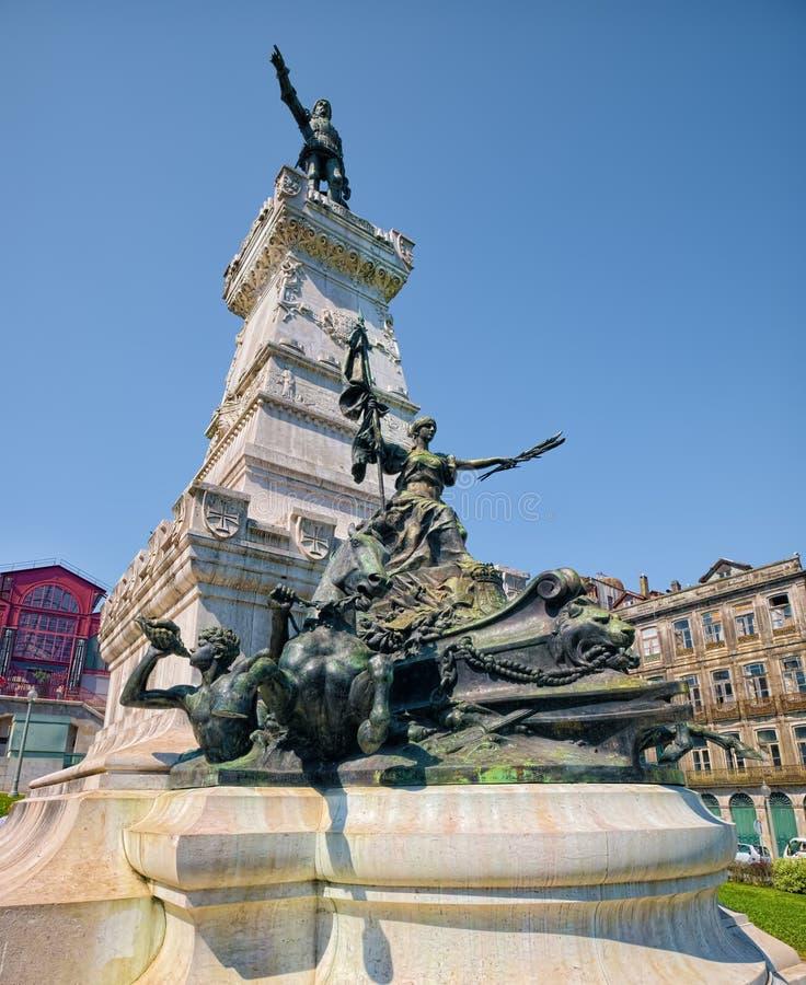 Statue de prince Henry le navigateur à Porto, Portugal photo libre de droits