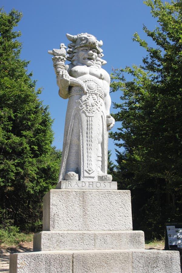 Statue de Radegast image stock