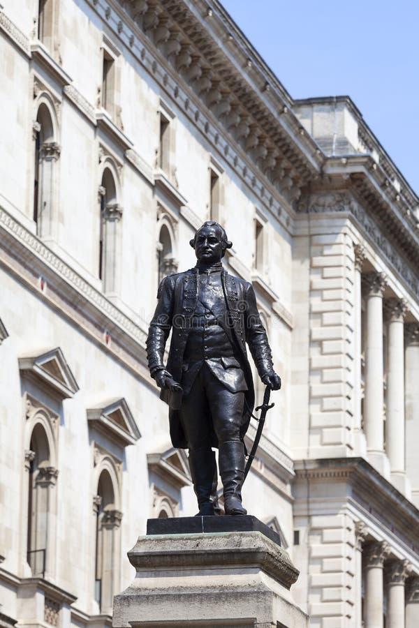 Statue de Robert Clive, dirigeant des Anglais, Westminster, Londres, Royaume-Uni images libres de droits