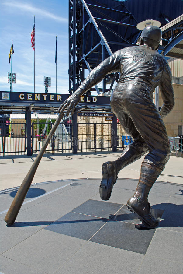 Statue de Roberto Clemente photo stock