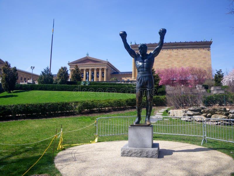 Statue de Rocky Balboa, Philadelphie, Etats-Unis images libres de droits