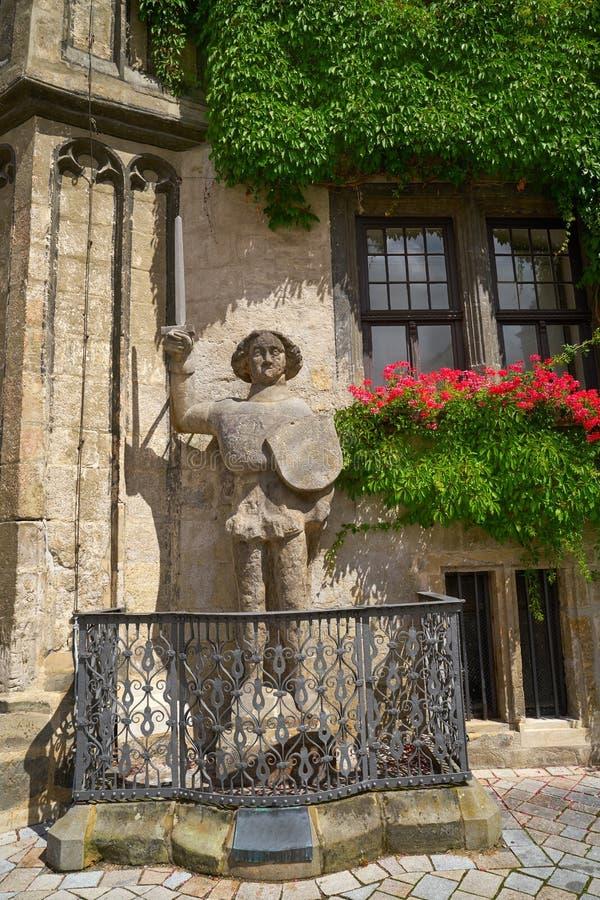 Statue de Roland chez Rathaus Quedlinbourg en Allemagne images stock