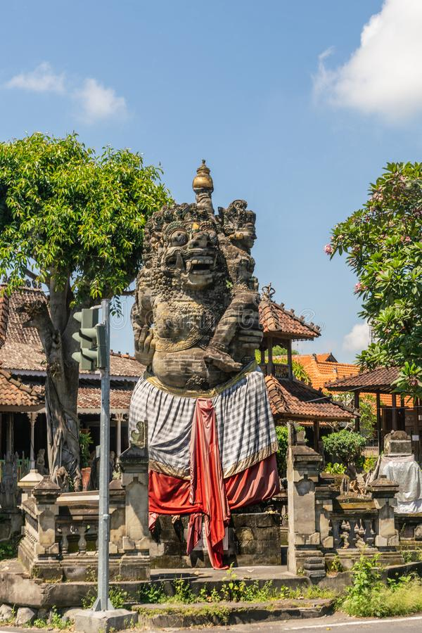 Statue de rue dans Banjar Gelulung, Bali Indon?sie photo stock