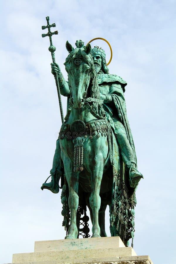 Statue de rue stephen - frontview photographie stock