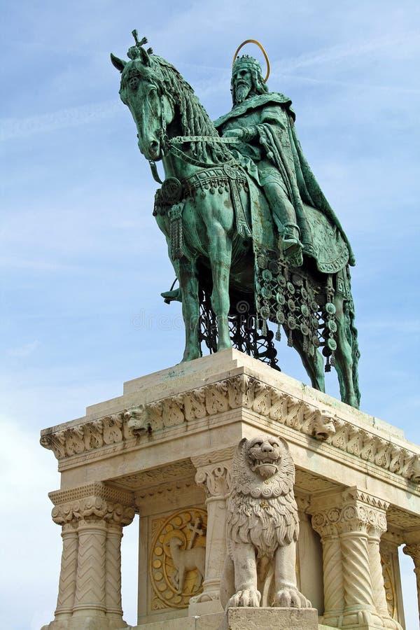 Statue de rue stephen - sous la vue photo libre de droits