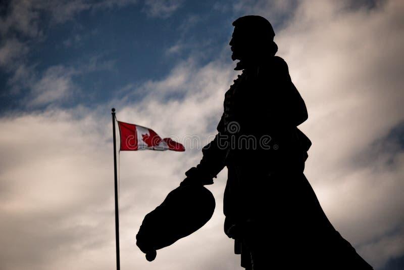 Statue de Samuel de Champlain photo stock