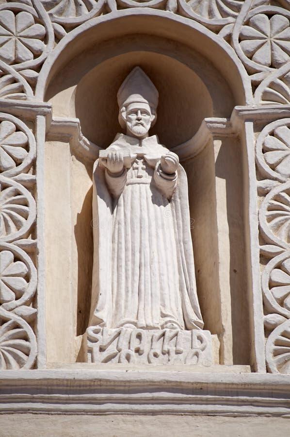 Statue de San Andreas sur la cathédrale, Comayagua, Honduras. images stock
