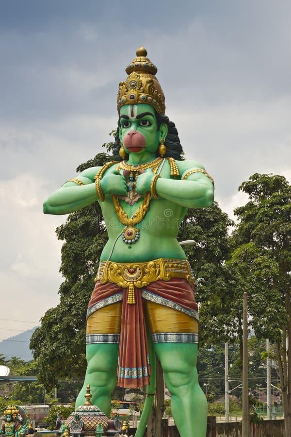 Statue de seigneur Hanuman, cavernes de Batu, Kuala Lumpur photos libres de droits