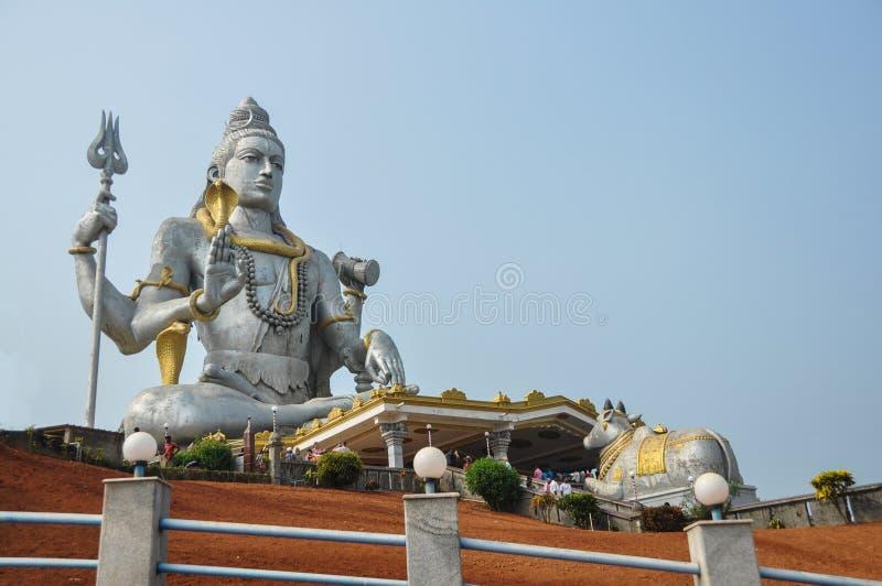 Statue de Shiva dans Murdeshwar Inde photos stock