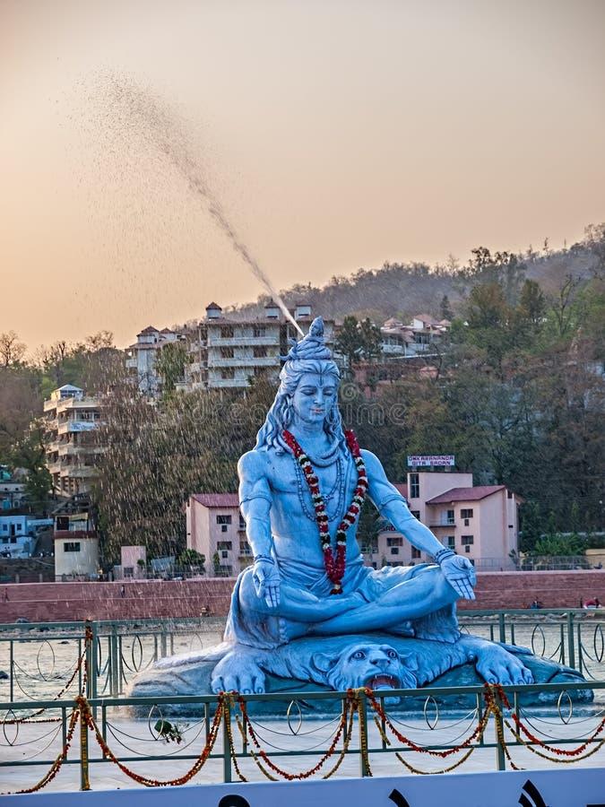 Statue de Shiva dans Rishikesh image libre de droits
