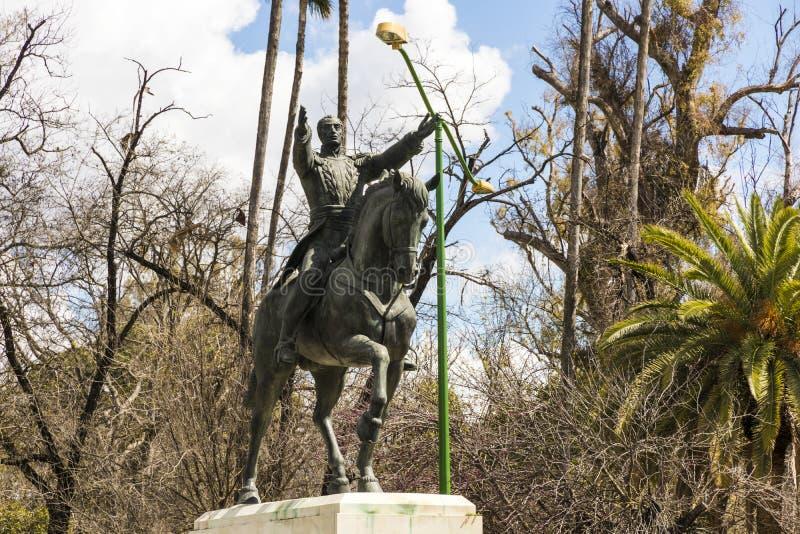 Statue de Simon Bolivar, Séville, Espagne photographie stock libre de droits
