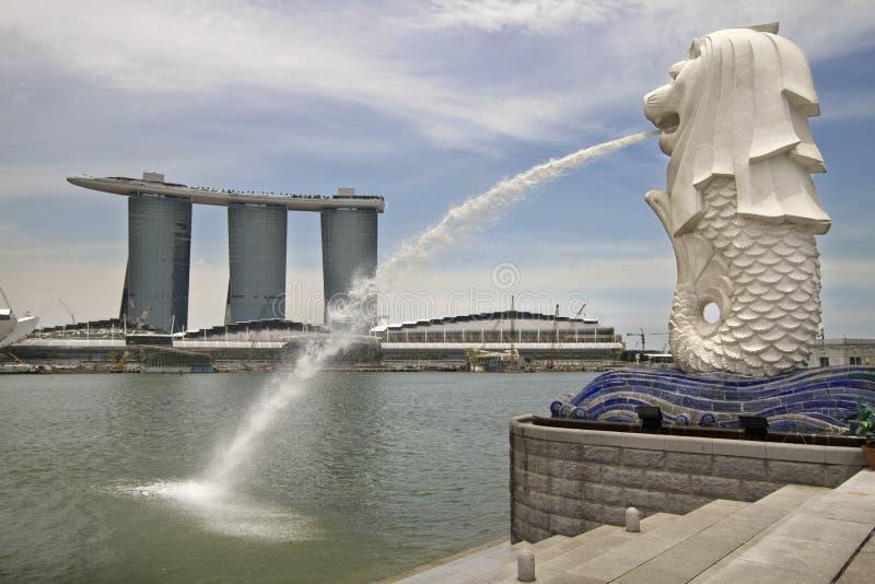 Statue de Singapour Merlion photos stock