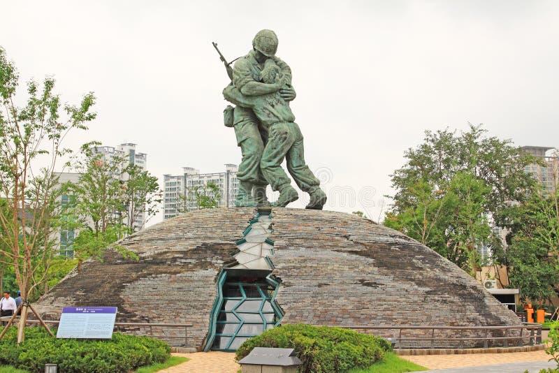 Statue de soldats dans le mémorial de guerre de la Corée photos libres de droits