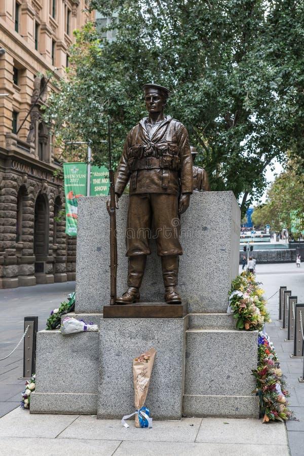 Statue de Soldier de marin au mémorial de guerre de cénotaphe, Sydney Australia photographie stock
