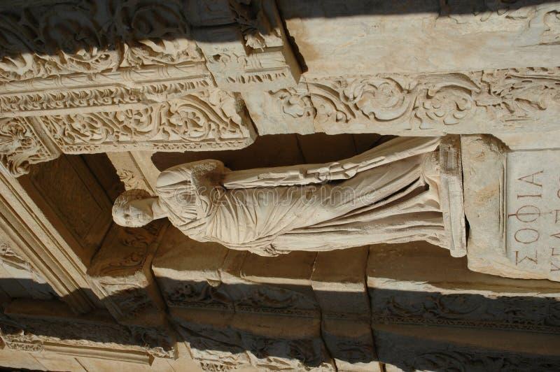 Statue de Sophia dans Ephesus photo libre de droits