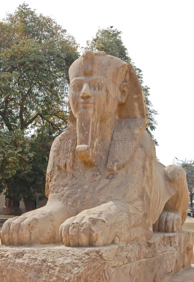 Statue de sphinx d'albâtre photo libre de droits