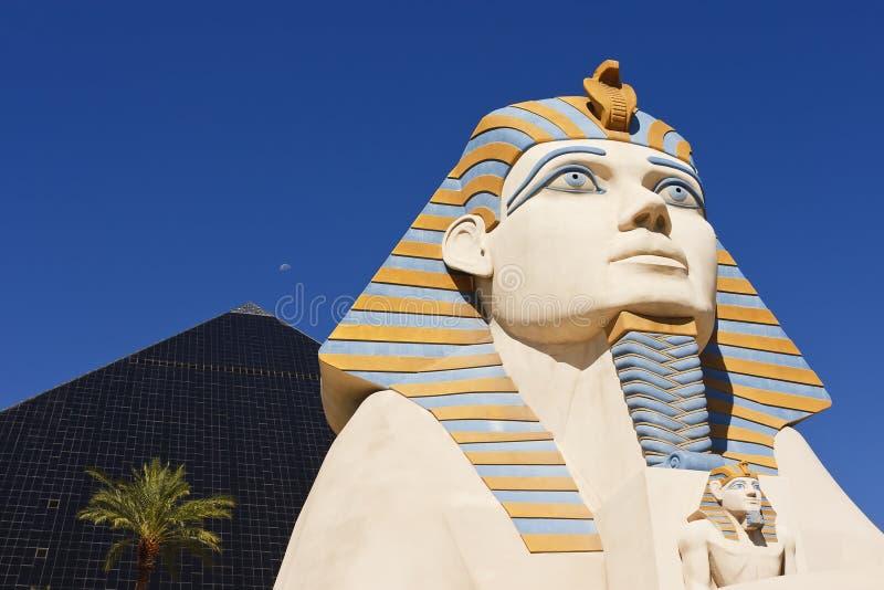 Statue de sphinx de casino d'hôtel de Luxor photographie stock libre de droits