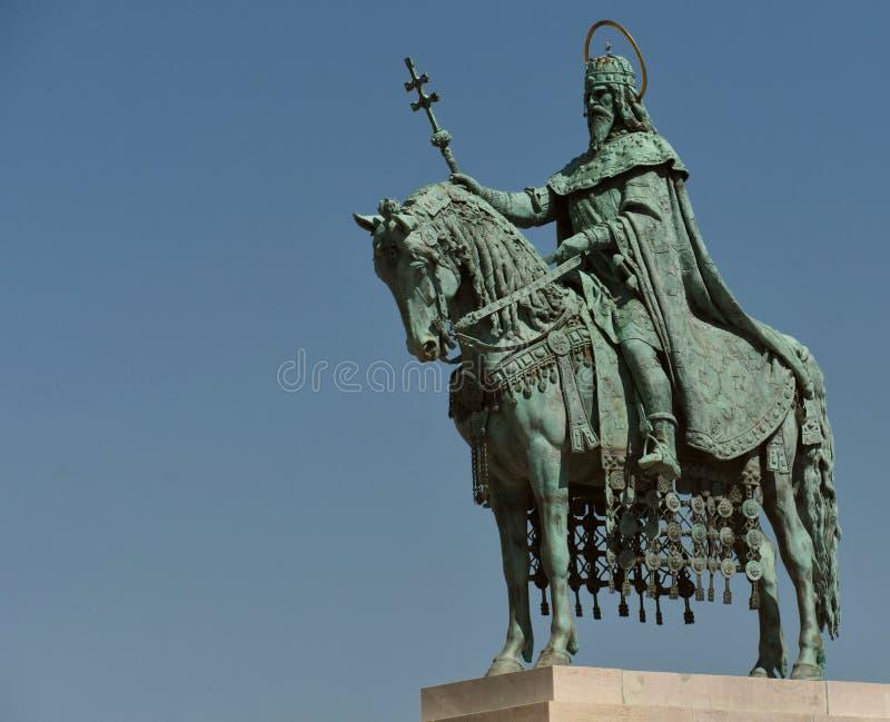 Statue de St Stephen ? Budapest photos libres de droits