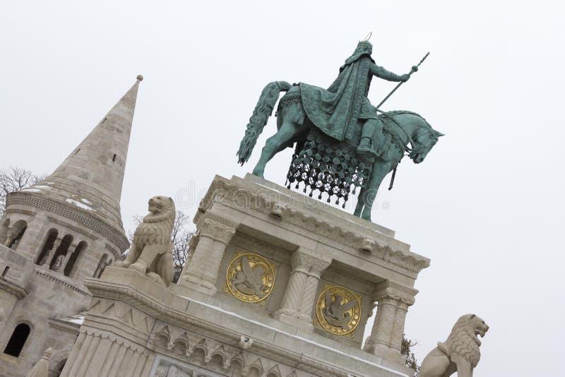 Statue de Stephen I de la Hongrie images stock