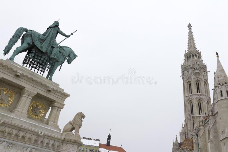 Statue de Stephen I de la Hongrie photo stock