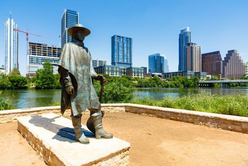 Statue de Stevie Ray Vaughan photo libre de droits