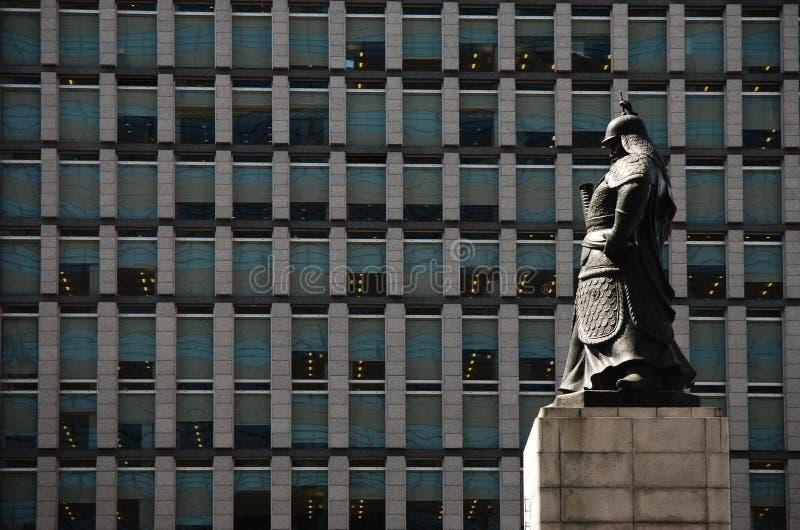 Statue de Sun-péché de Yi à Séoul, Corée du Sud. images stock