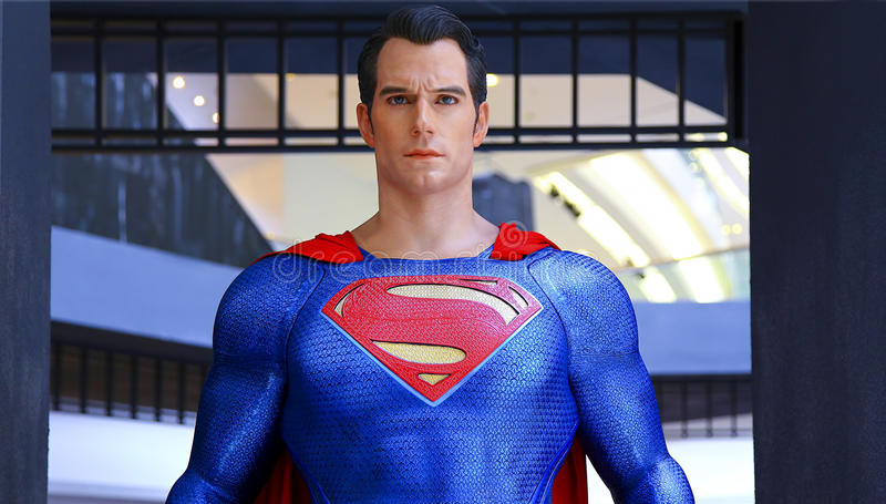 Statue de Superman photographie stock libre de droits