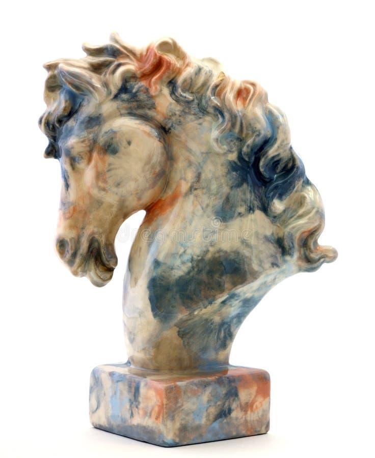 Statue de tête de cheval photo stock