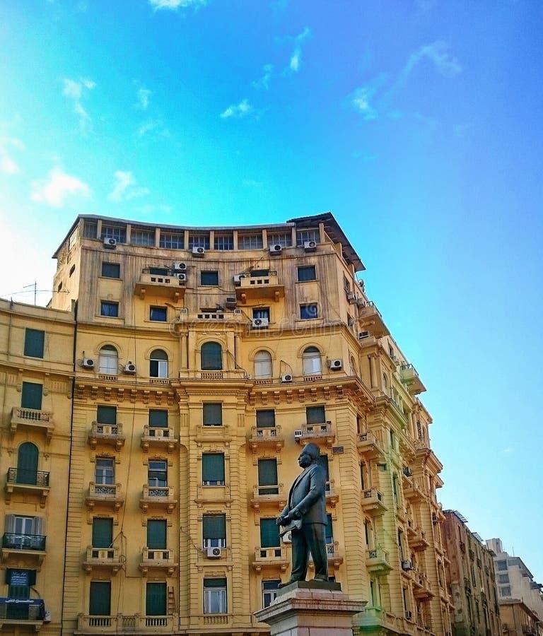 Statue de Talaat Harb image libre de droits