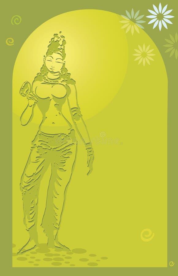 Statue de temple illustration de vecteur