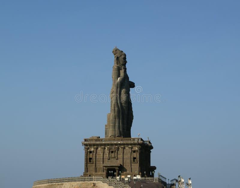 Statue de Thiruvalluvar, Kanyakumari, Tamilnadu, Inde images libres de droits