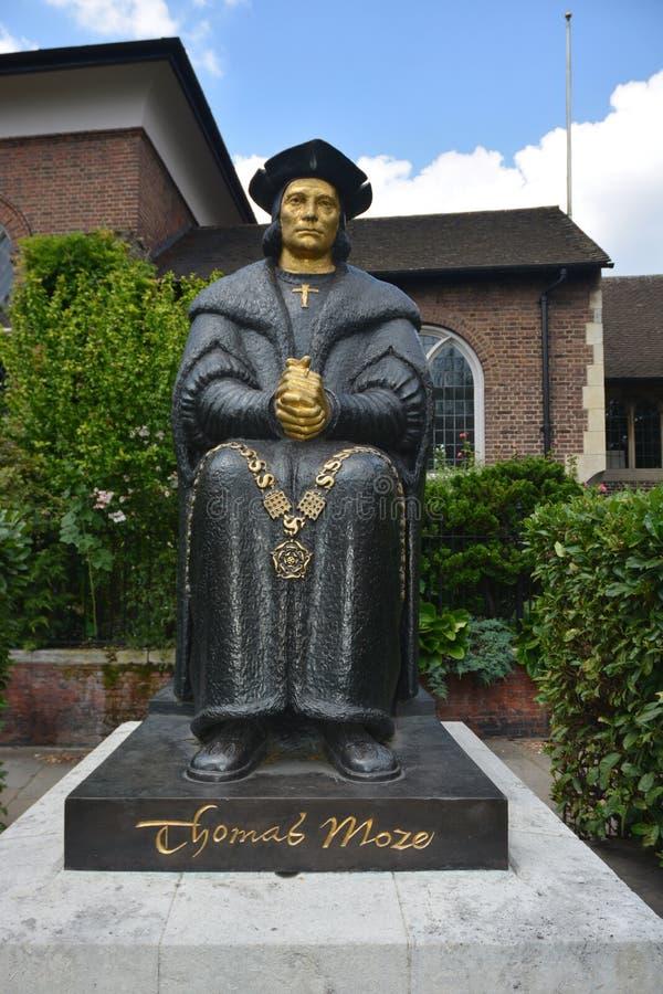 Statue de Thomas More photographie stock
