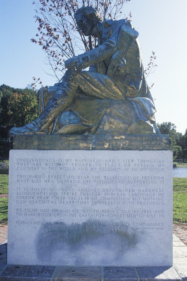 Statue de Thomas Paine, auteur de bon sens, Morristown, New Jersey photo libre de droits