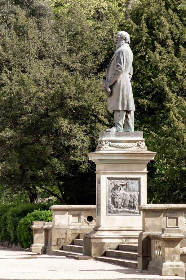 Statue de Titus Salt en Roberts Park, Saltaire images stock