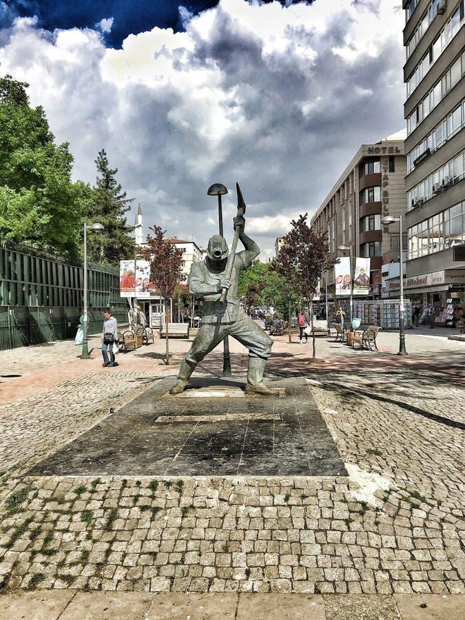 Statue de travailleur photo libre de droits