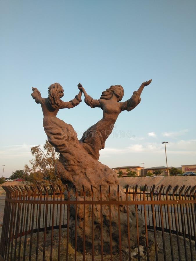 Statue de Twin Falls images libres de droits