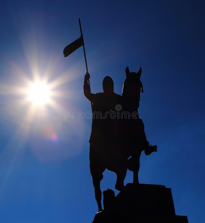 Statue de Venceslav de saint image stock