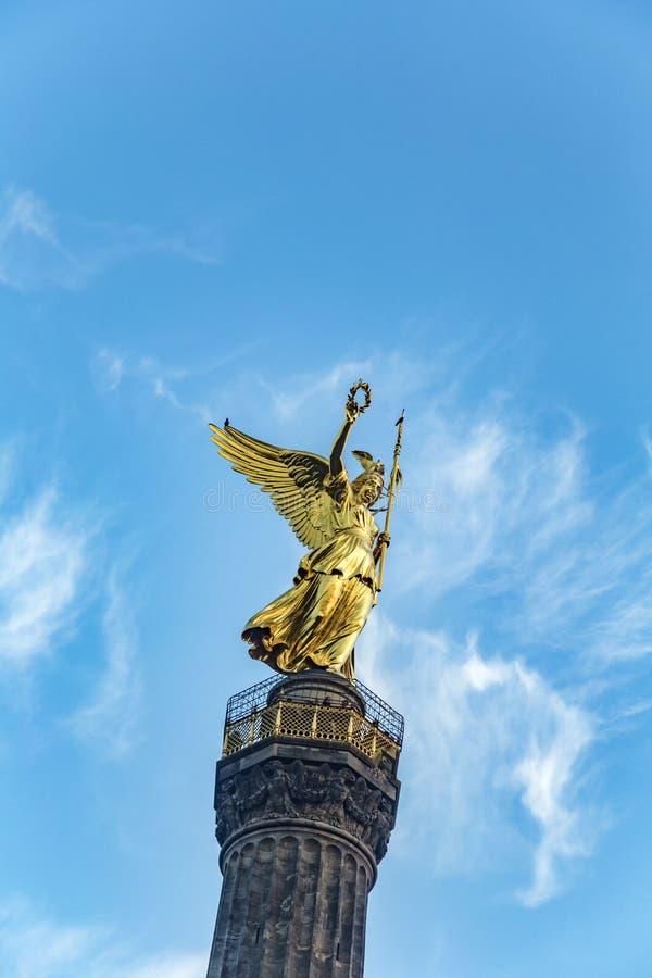 Statue de victoire (siegessaule) à Berlin, Allemagne photos libres de droits