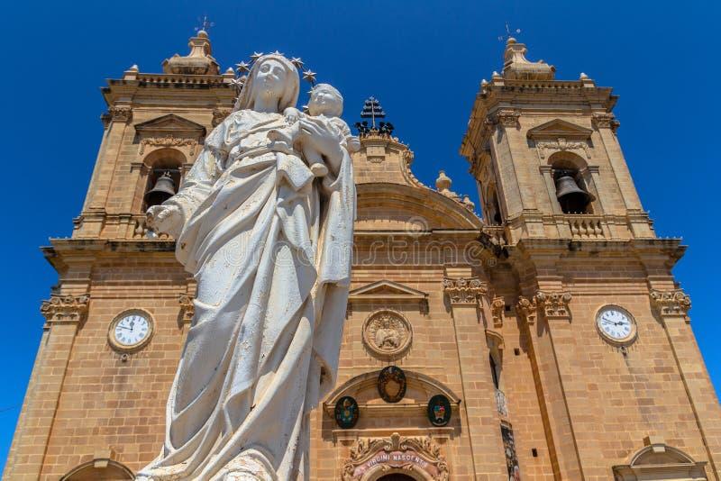 Statue de Vierge de Xaghra image libre de droits