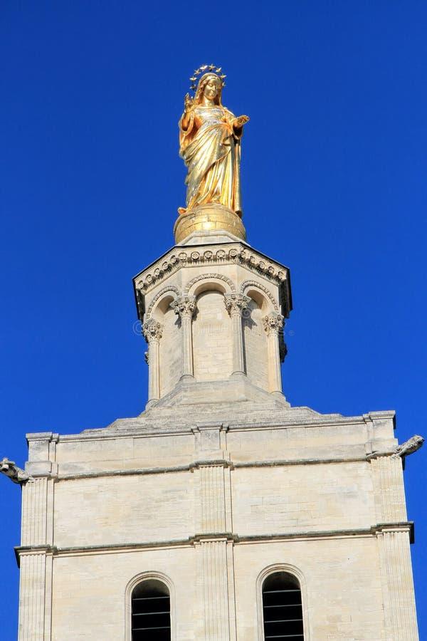 Statue de Vierge Marie à Avignon, France photos libres de droits