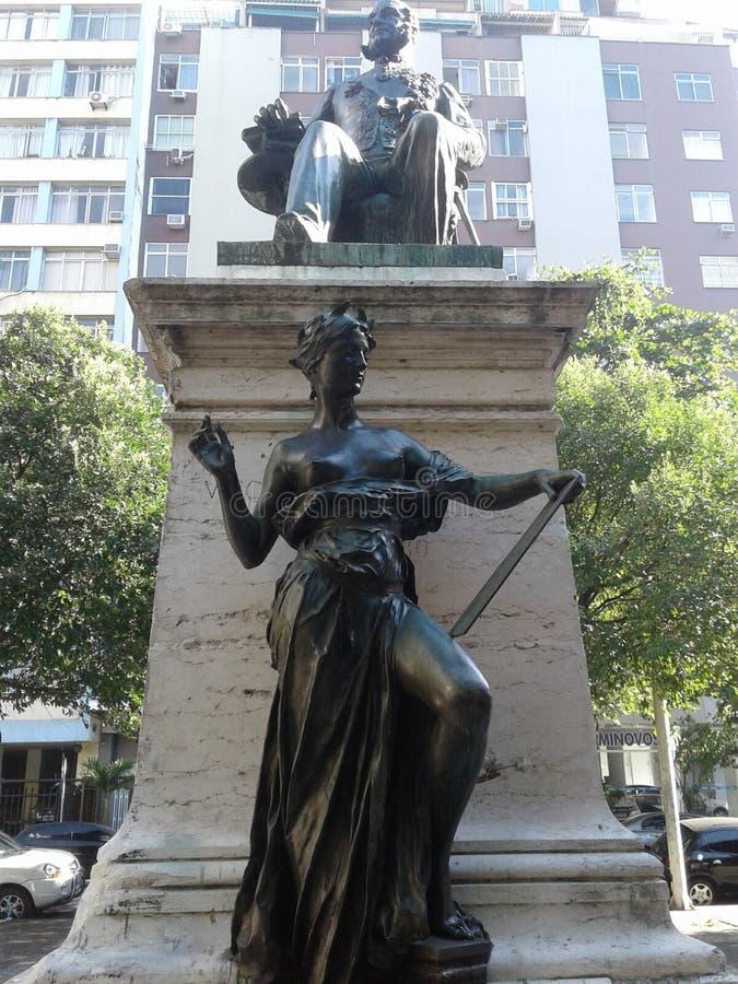 Statue de Visconde do Rio Branco à Copacabana Rio de Janeiro Brésil images stock